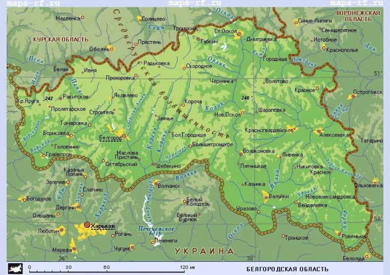 скачать карту белгородской области по районам - фото 6