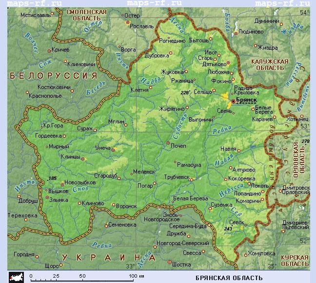 Церкви г Брянск на карте
