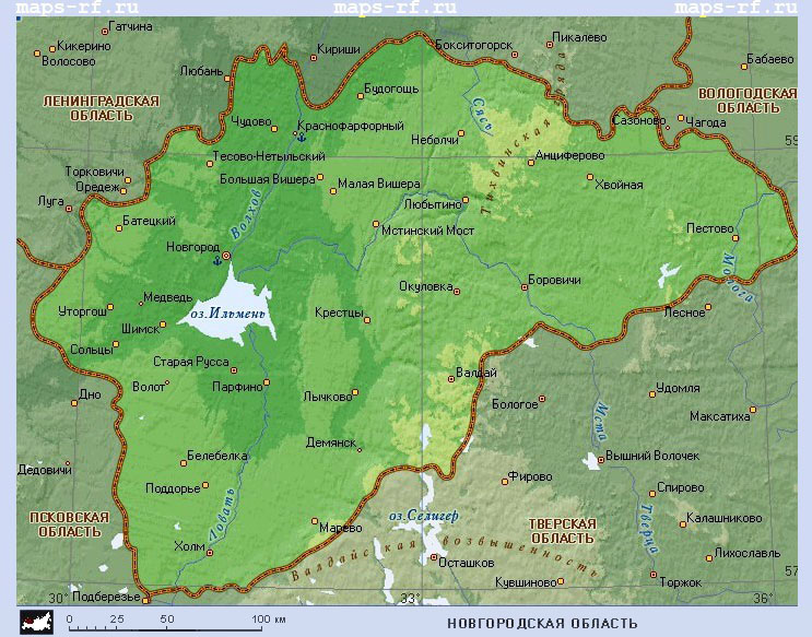 Карту новгородской области скачать