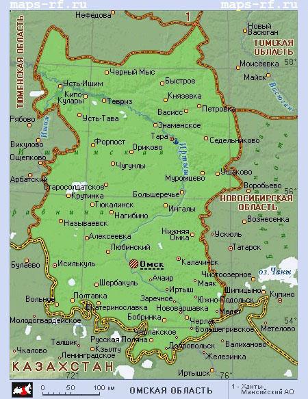 карта омской области скачать - фото 6