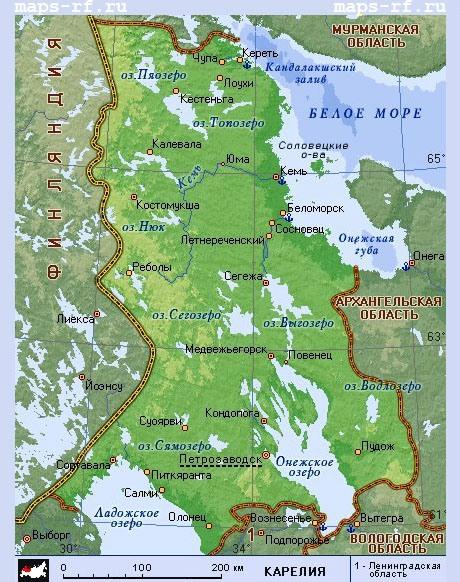 карта карелии скачать бесплатно - фото 4