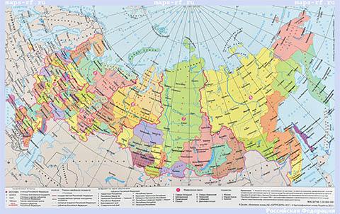 Карта России с городами подробная 2019